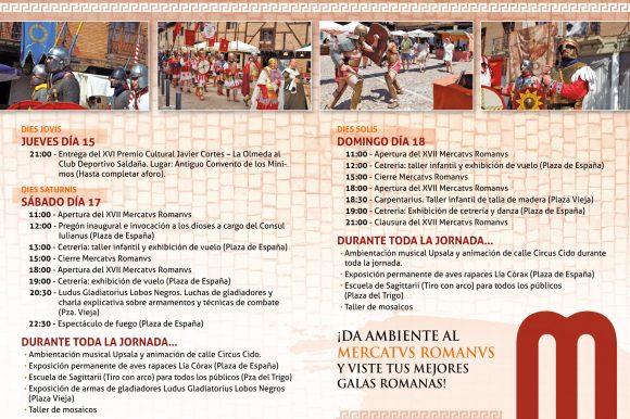 Programa de actividades del XVII Mercatus Romanus